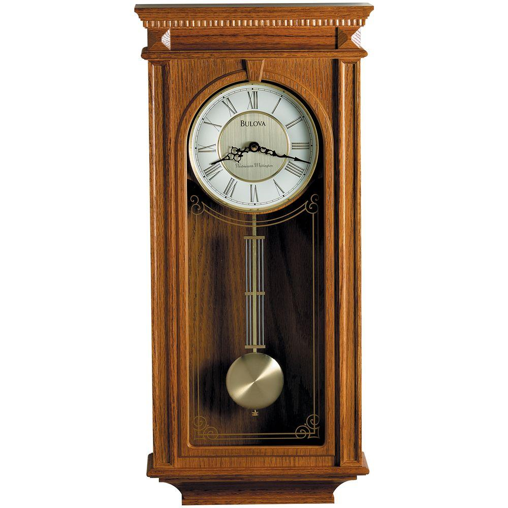 Wide 7.55 in SEIKO Traditional Musical Desk//Table Clock
