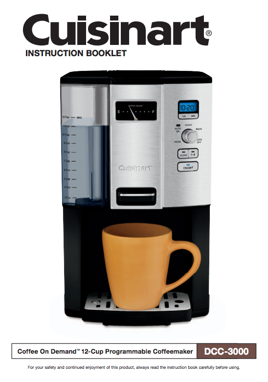 Coffee On Demand 12 Cup Programmable Coffeemaker Dcc 3000 Product