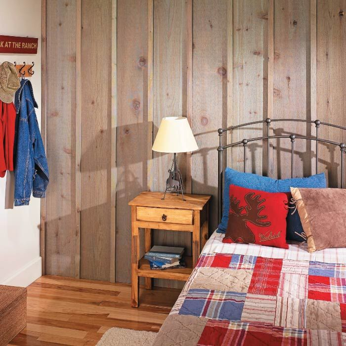 Rustic Cabin-Inspired Board & Batten Wall | his bold accent wall is