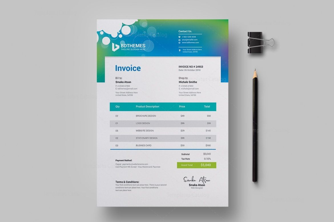Download The Proforma Invoice From Vertex42 Resume Samples