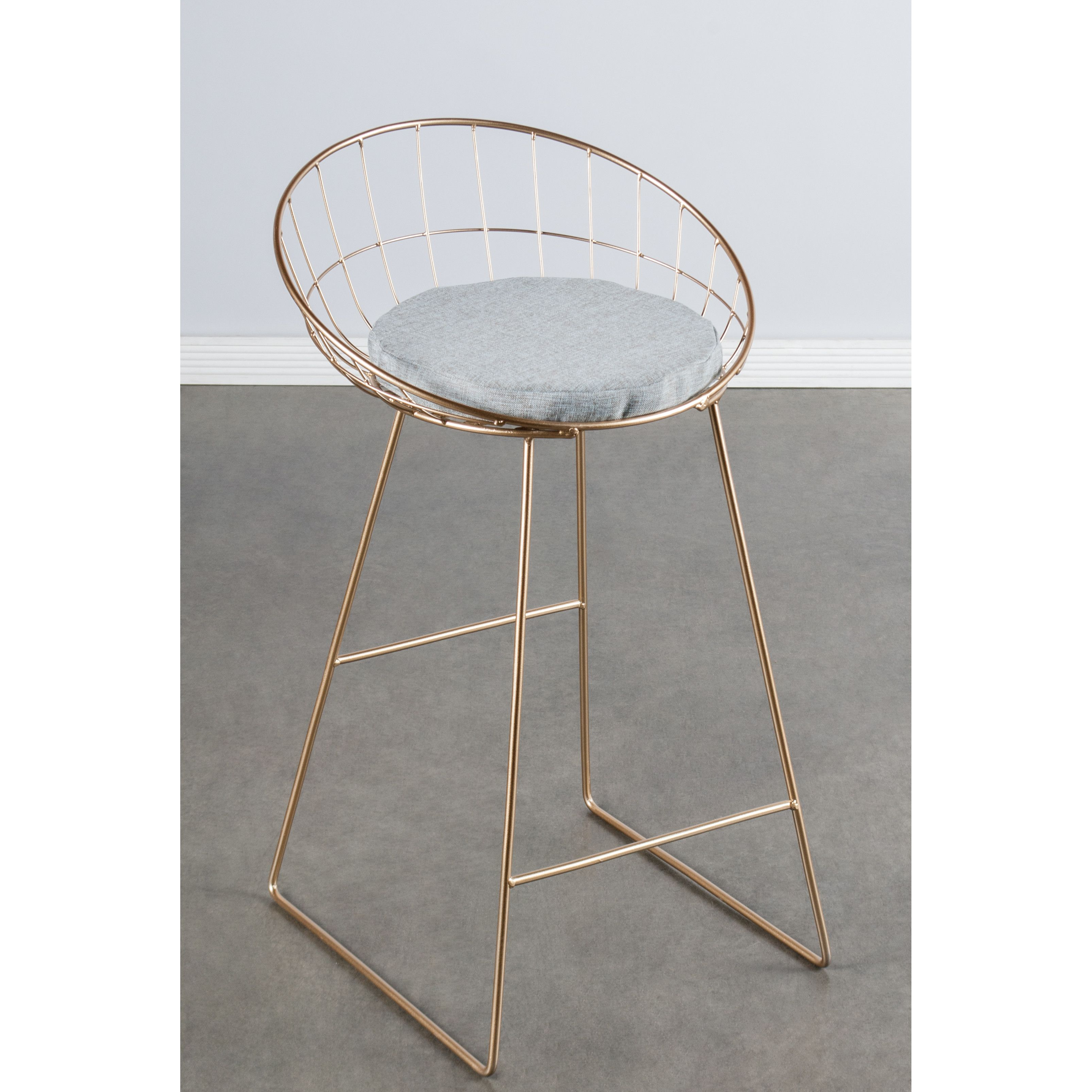 """Statements by J Kylie 26"""" Bar Stool with Cushion"""