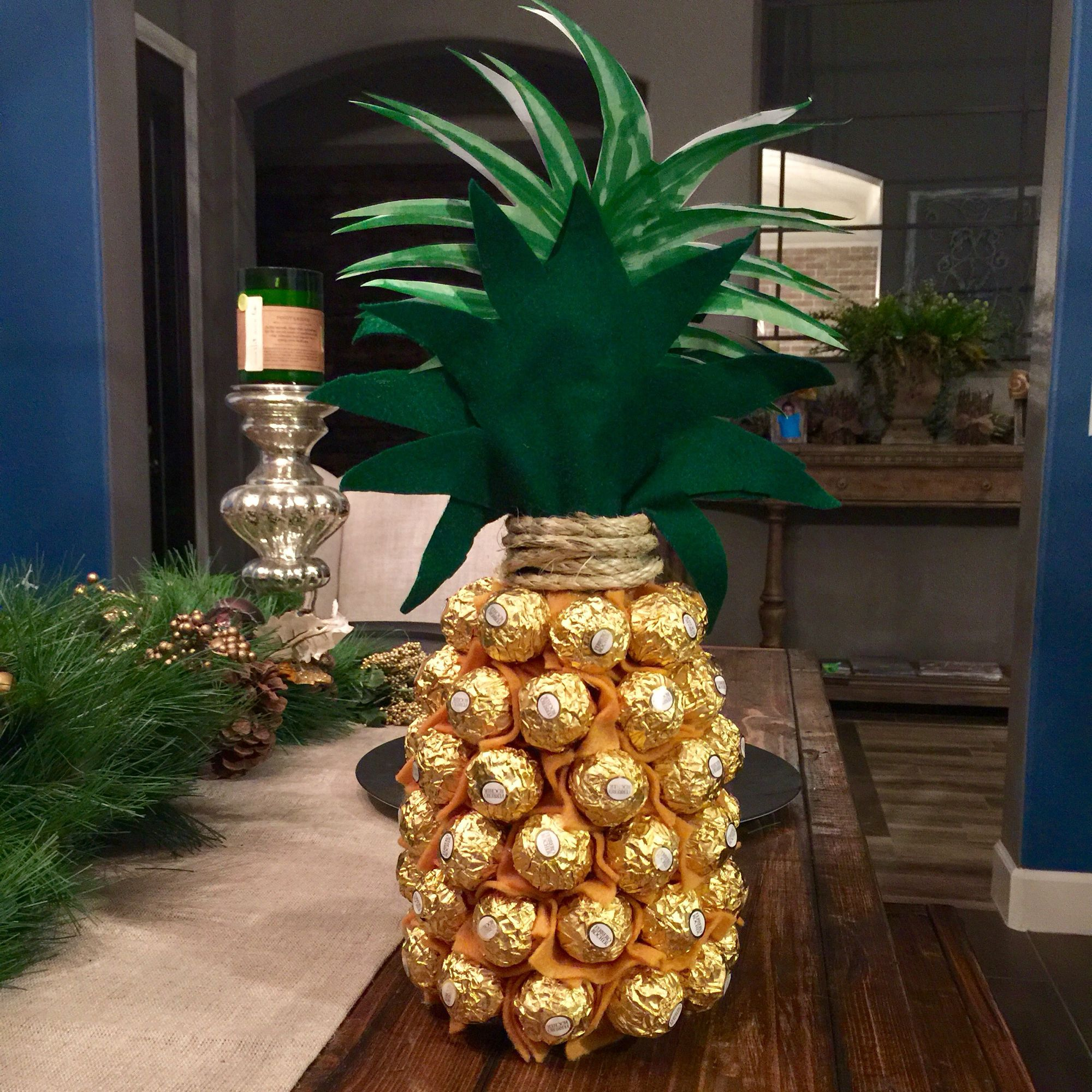 Ferrero Rocher and champs = pineapple! by Burlap & Boards | Gifts ...