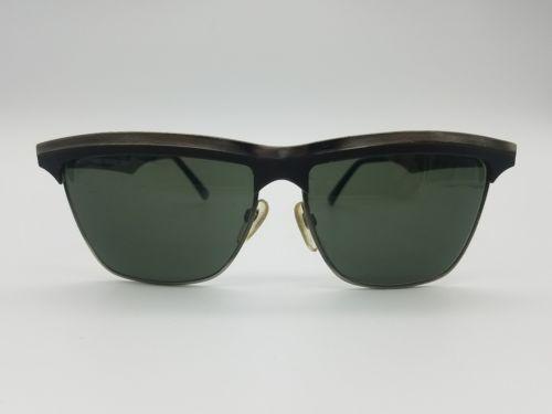c4cb27ee674 vintage Olympian brow style sunglasses black gun metal frames heavy duty  hinges  gozluk
