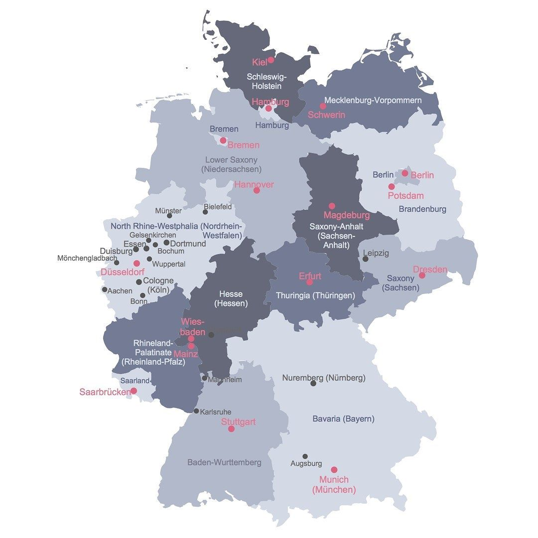 Example: Political Map of Germany. #map #germanymap #germany ... on rome germany map, bad lippspringe germany map, plochingen germany map, trier germany map, lubbecke germany map, hellenthal germany map, kochel germany map, havixbeck germany map, lengerich germany map, goerlitz germany map, lampertheim germany map, mayence germany map, blankenheim germany map, barmen germany map, erkelenz germany map, donaueschingen germany map, landsberg am lech germany map, ochtrup germany map, colditz germany map,