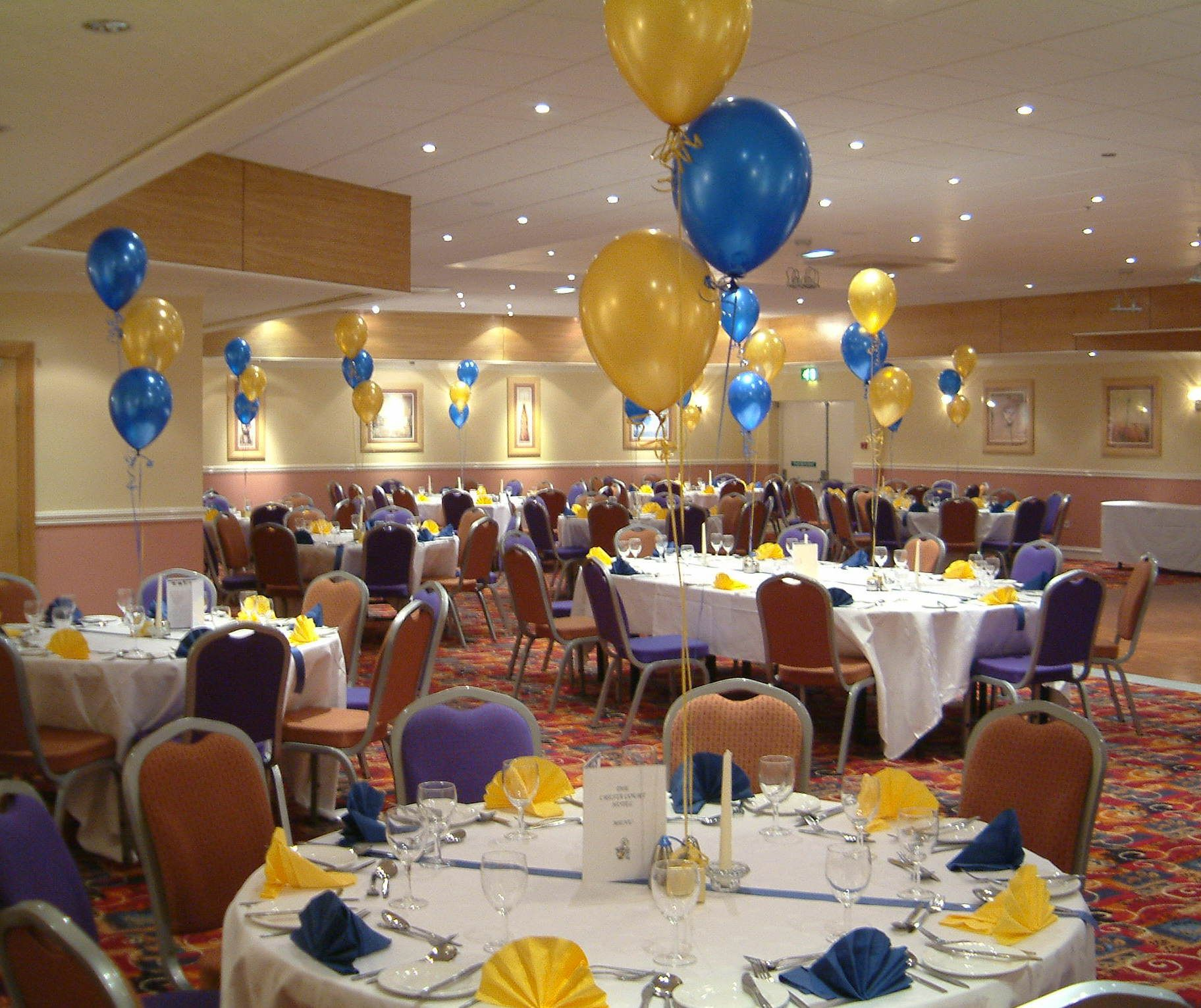 balloon decoration ideas for function room | freemason party for