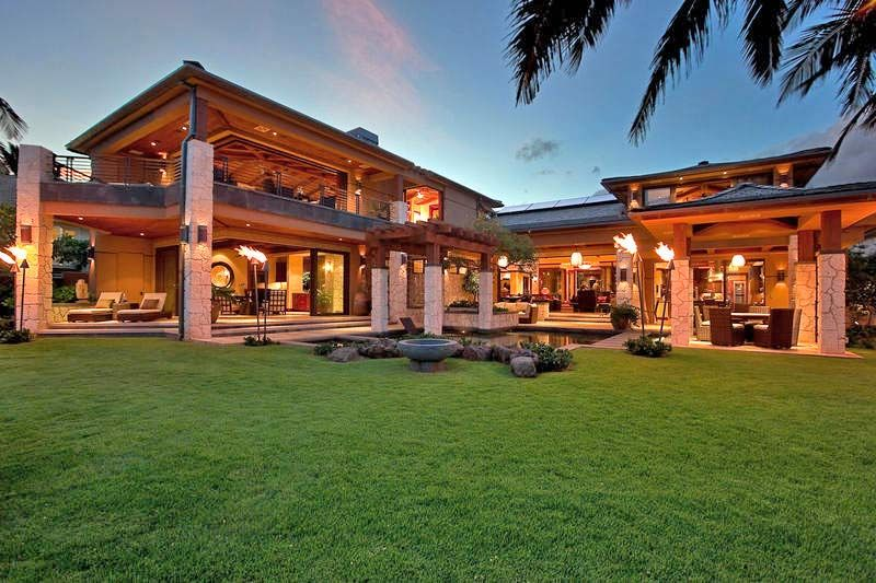 open floor plan Paradise Cove Estate Diamond Head, Oahu ...