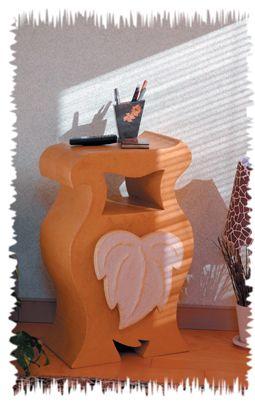 console en carton reciclari plastic si carton pinterest consoles. Black Bedroom Furniture Sets. Home Design Ideas
