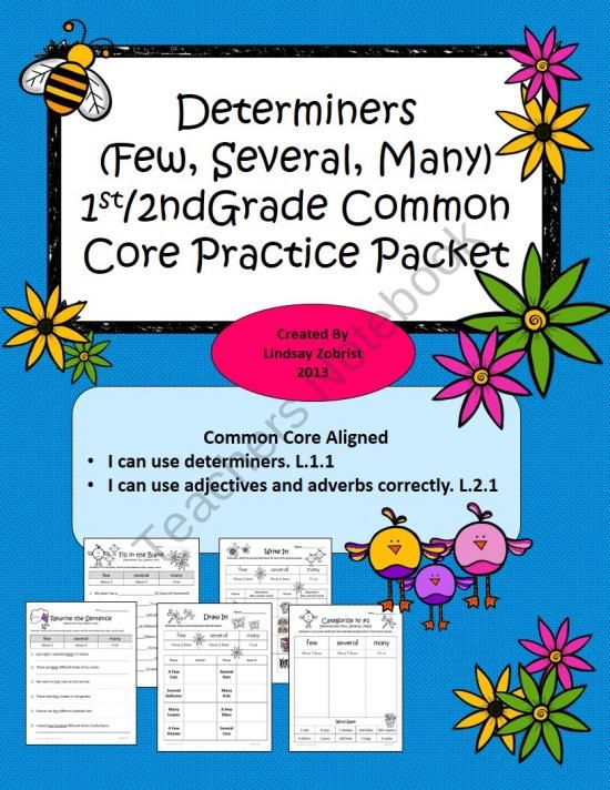 Determiners 1st 2nd Grade Common Core Practice Worksheets from – Common Core Practice Worksheets