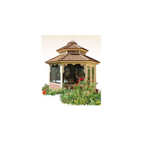 Garden Getaway Gazebos ❤ liked on Polyvore featuring home, outdoors, outdoor decor, garden decor, garden patio decor y outdoor garden decor