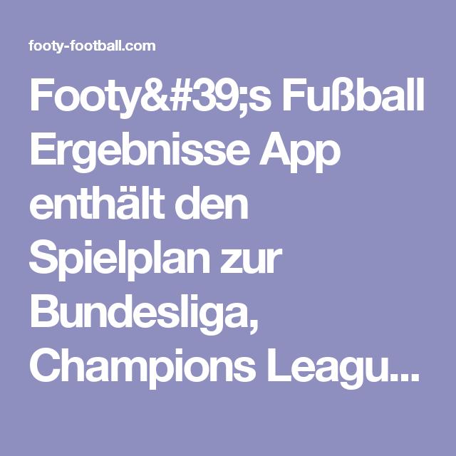 Europa Pokal Spielplan