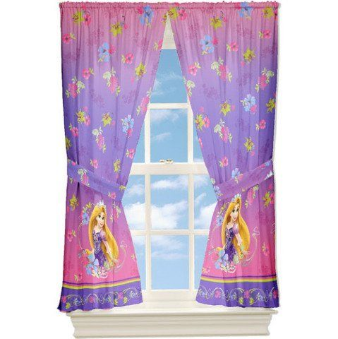 Disney Tangled Window Panels Rapunzel D By 32 25 2 Tie Backs Made To Fit 36 Inche 48 Inch Windows