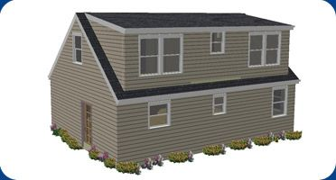 Back dormer closets and bathroom yay julian room for Cape cod house plans with dormers