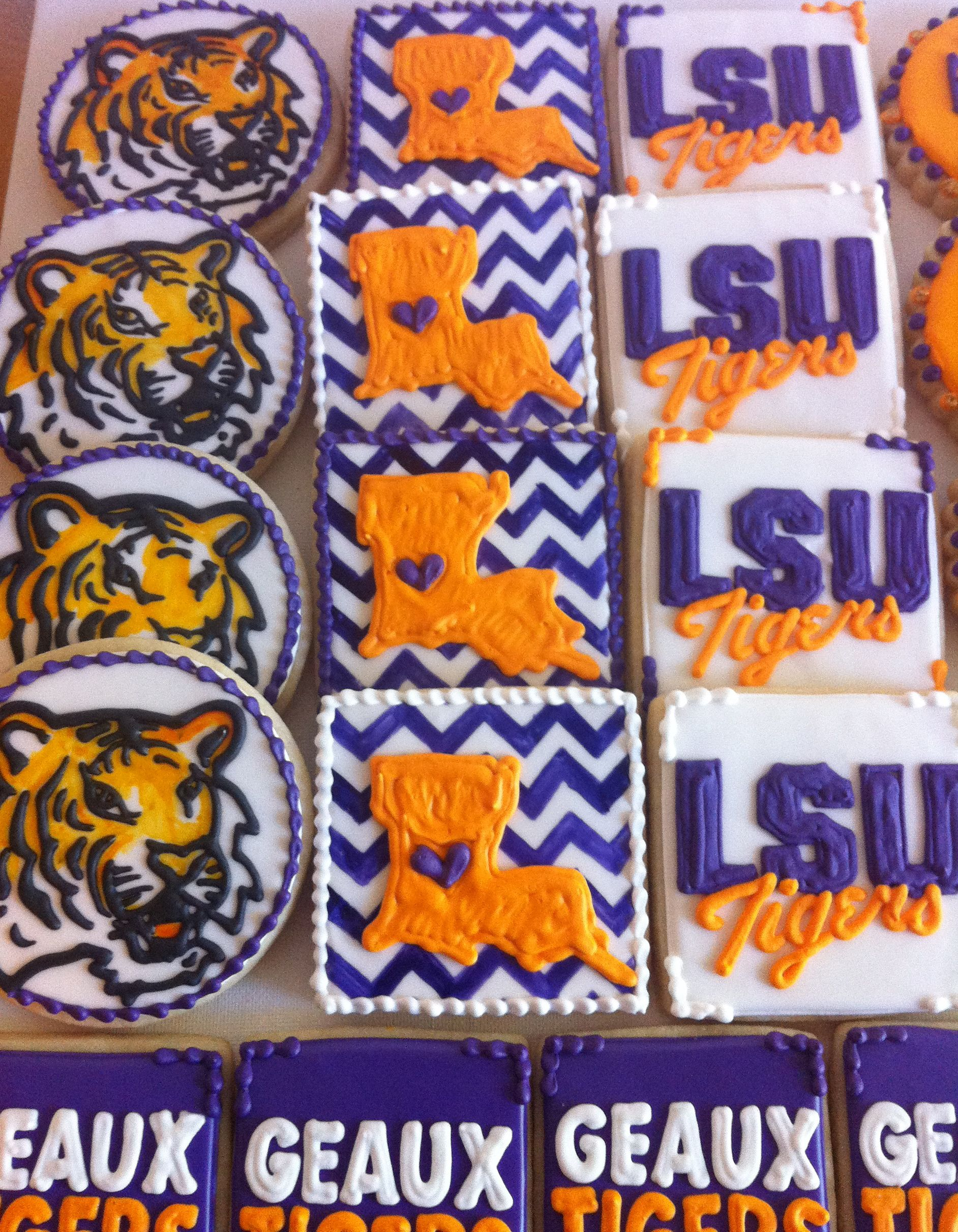 LSU cookies! A great gift for christmas!! ((or just because you <3 ...