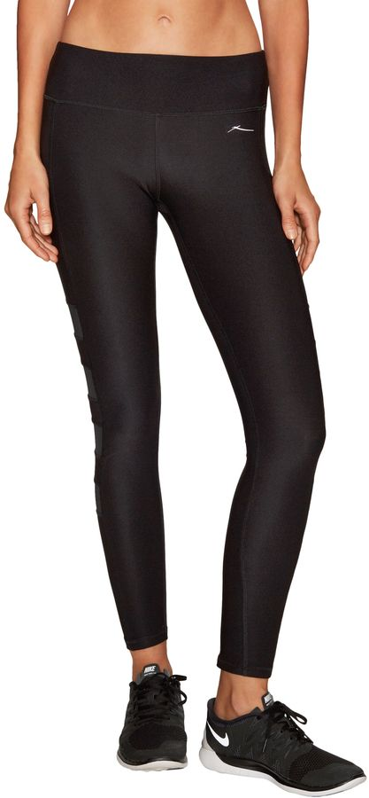 X by Gottex Women's Solid Paneled Long Leggings