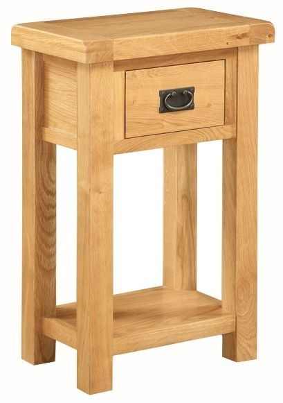 Somerset Oak Telephone Stand With Drawer