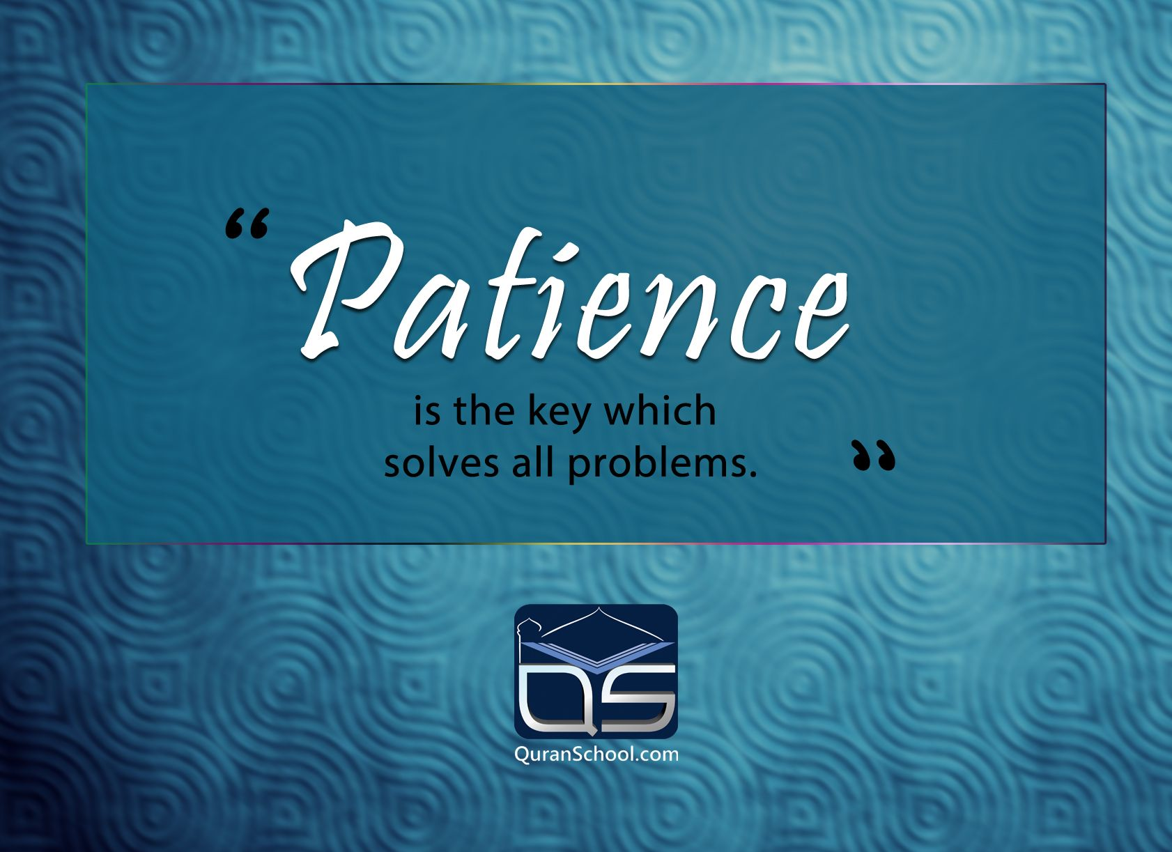 #Patience Is The Key Which Solves All #problems. Http://goo