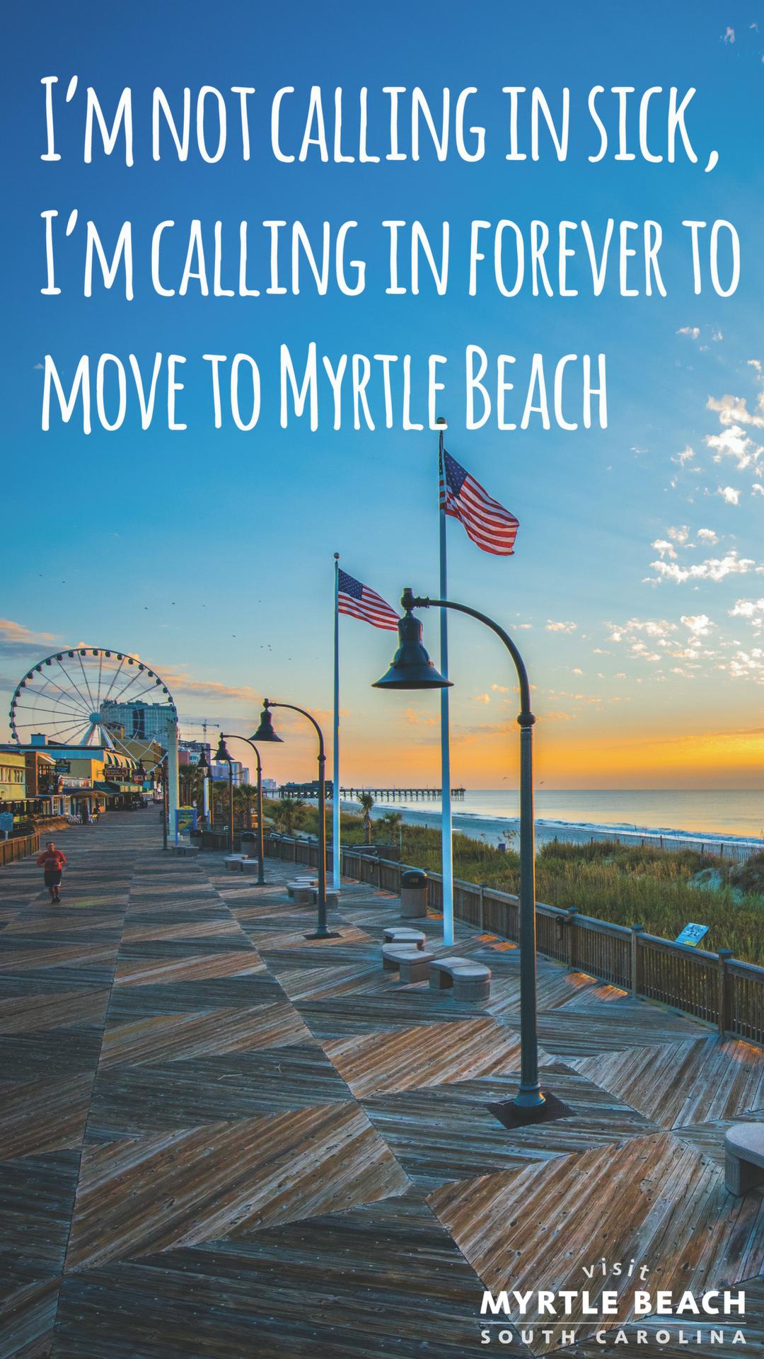 Visit Myrtle Beach Phone Wallpaper   Myrtle beach, Visit ...