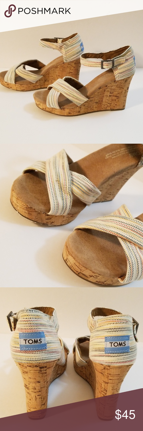 Tom's Wedge Sandals Size 7 Tom's Wedge sandals Size 7 Heels 7 Platform 1 Multicolored  Brand New no tags  See the pictures Toms Shoes Wedges #tomwedges Tom's Wedge Sandals Size 7 Tom's Wedge sandals Size 7 Heels 7 Platform 1 Multicolored  Brand New no tags  See the pictures Toms Shoes Wedges #tomwedges