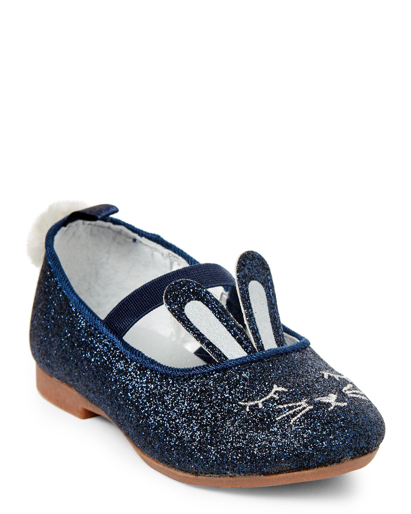 edce017b Osh Kosh B'gosh (Toddler Girls) Navy Buffy Glitter Mary Jane Shoes