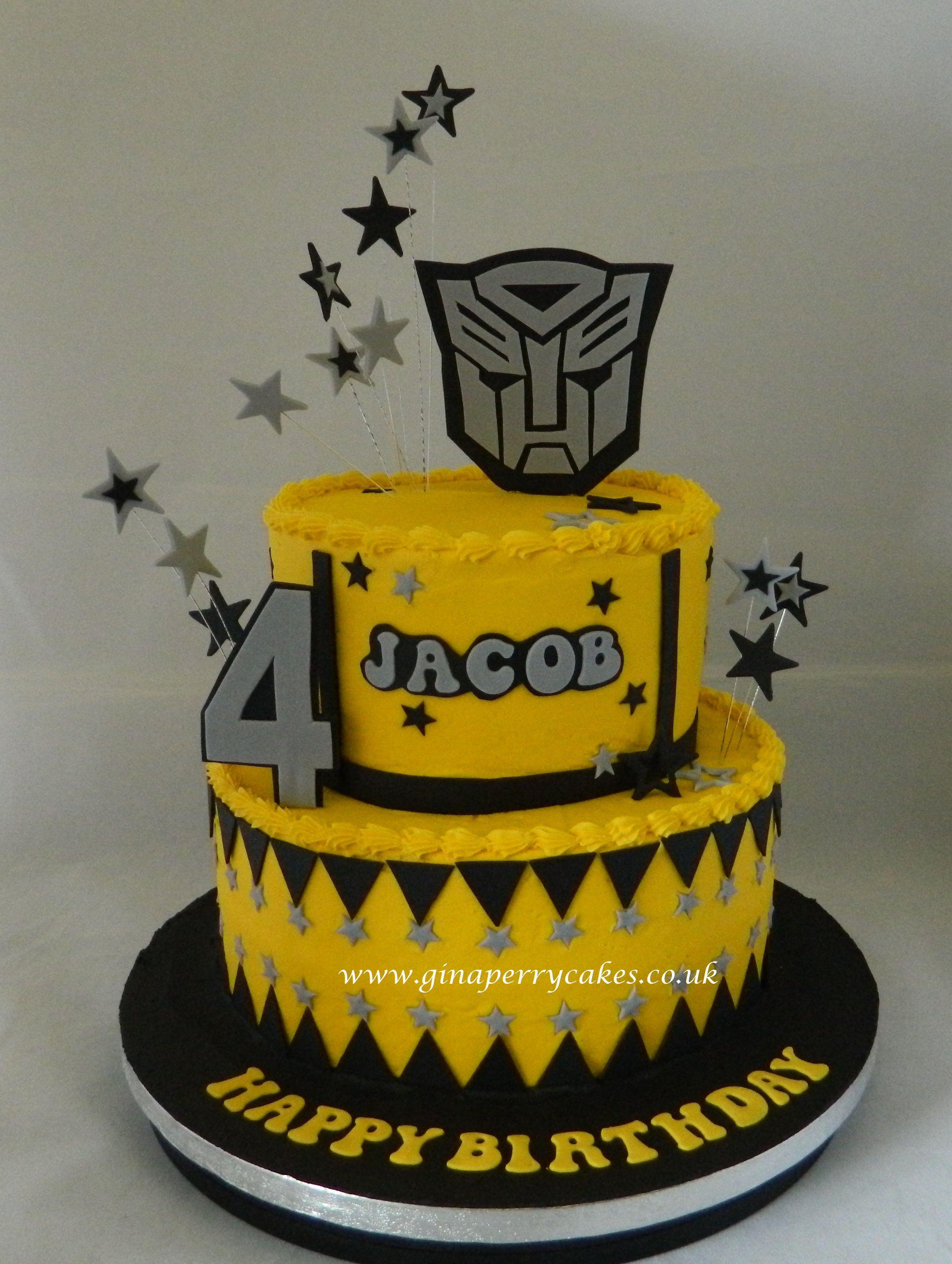 Surprising 4Th Birthday Transformer Theme Transformers Birthday Cake Funny Birthday Cards Online Inifofree Goldxyz