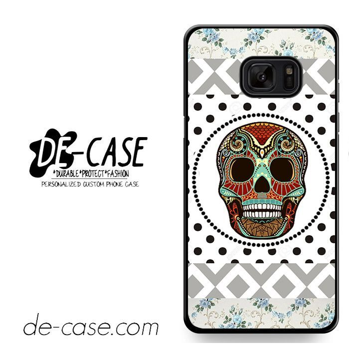 Aztec Skull Polkadots Background DEAL-1270 Samsung Phonecase Cover For Samsung Galaxy Note 7