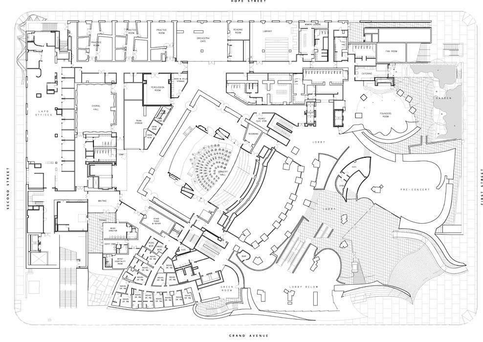 Minneapolis Convention Center Floor Plan: Gehry's Disney Concert Hall Floor Plans