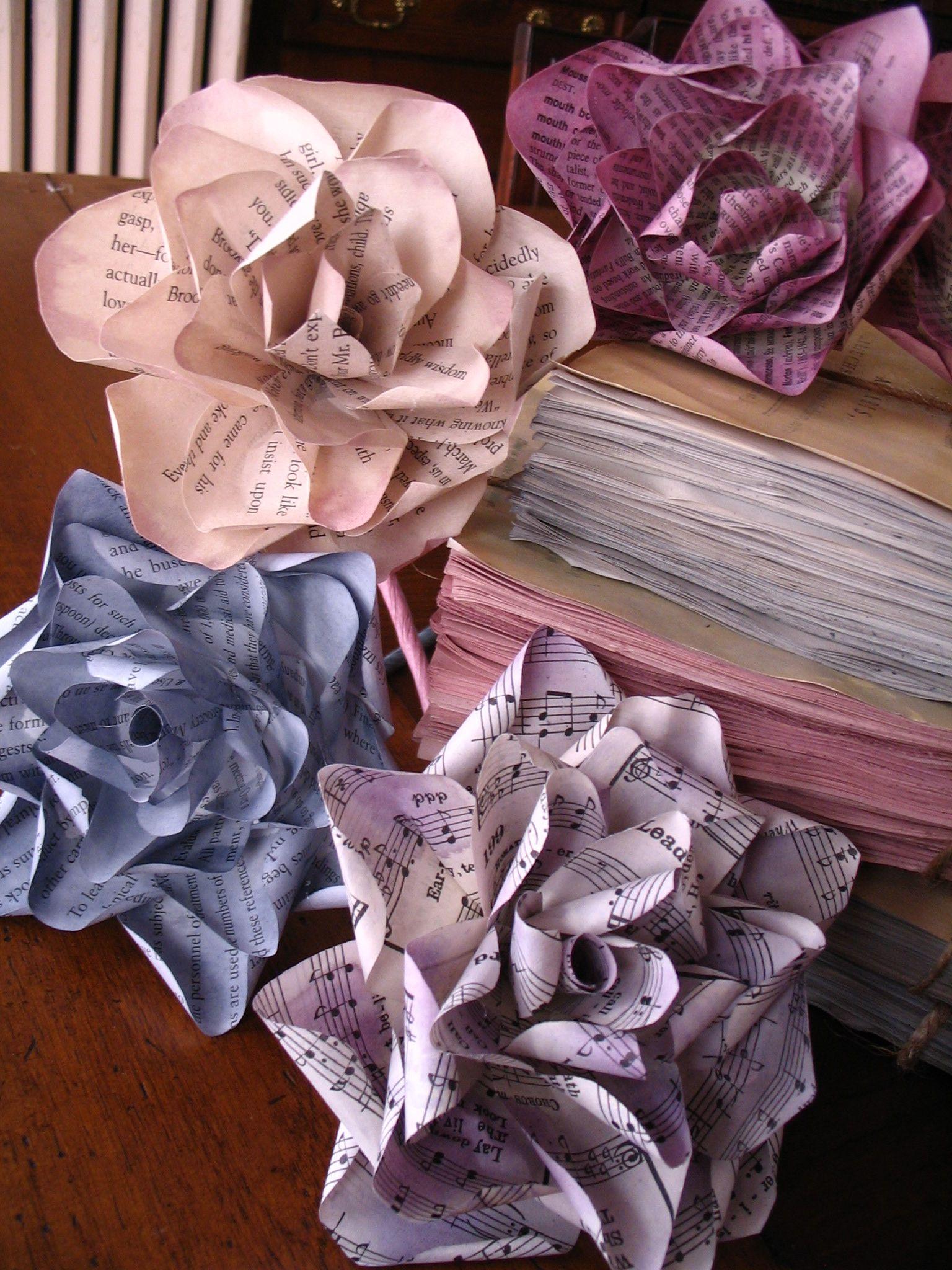 Diy Vintage Paper Roses Paper Pinterest Thrift Blog And
