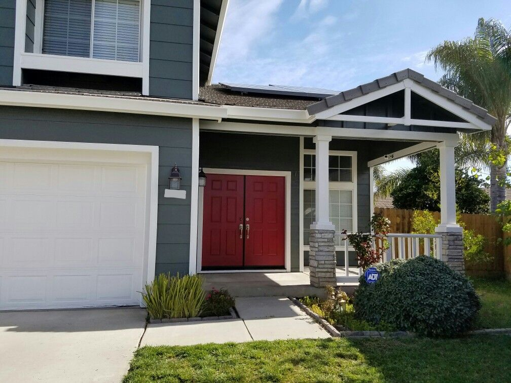 New sherwin williams paint night owl with seattle red - Sherwin williams exterior colors ...