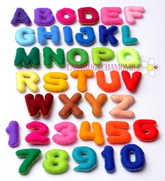 Upper Case Felt Magnet Letters And Numbers Choose Your Items Felt Magnet Felt Ornaments Felt