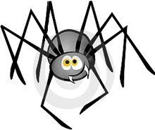 Natural spider killer or preventer... take one cup of vingar, one cup of pepper, a teaspoon of oil and liquid soap. Put it into a spray bottle and spray along the outside of your outside door and along windows. I couldn't post a pic of a real spider-HATE THEM!