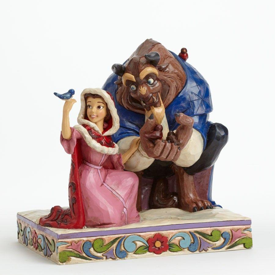 Belle ornament disney - Jim Shore Disney Traditions Beauty Belle Beast In Winter Figurine Nib 4039075
