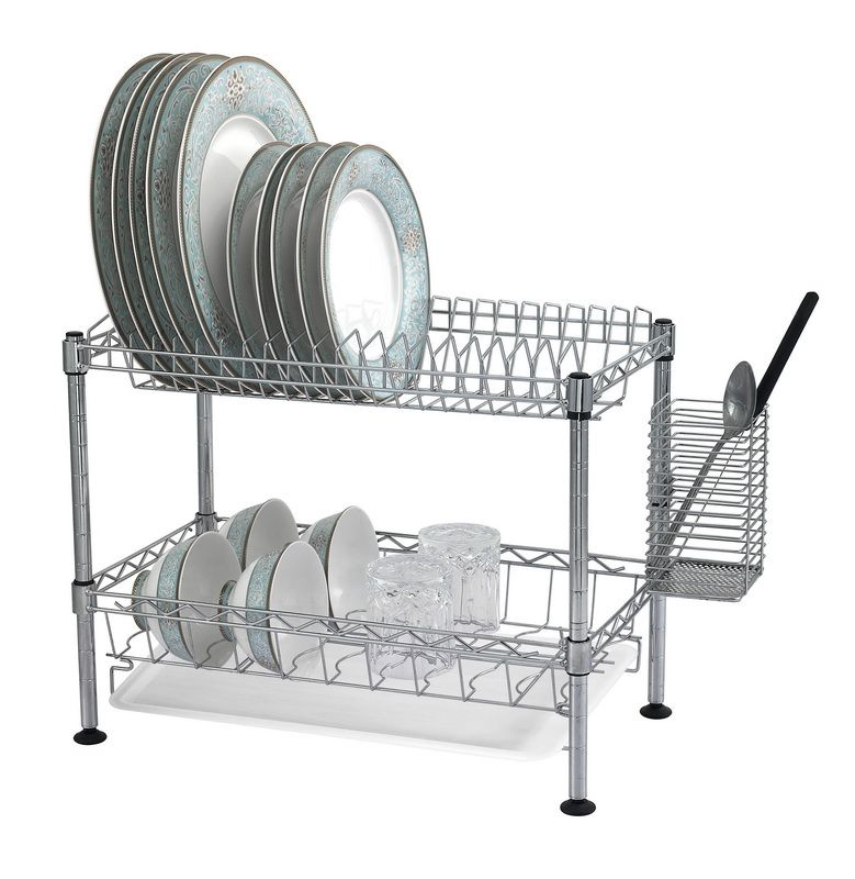 Opentip.com: BUDDY PRODUCTS WDR101812 Two-Tier Wire Dish Rack ...