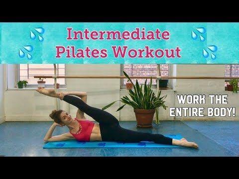 intermediate pilates class  full body workout  youtube