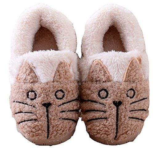 MiYang Womens Cute Cat Warm House Slippers Booties >>> More info could be found at the image url. (This is an Amazon affiliate link)