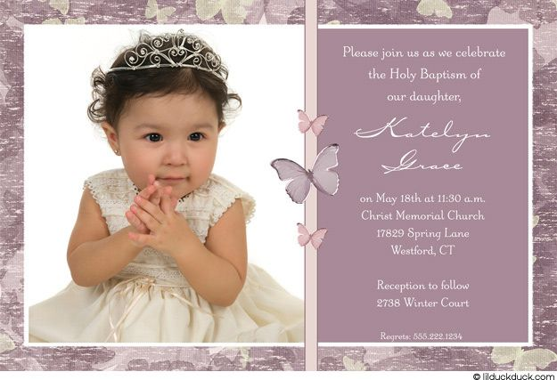 Single photo baptism invitation purple baby girl christening single photo baptism invitation purple baby girl christening stopboris Image collections
