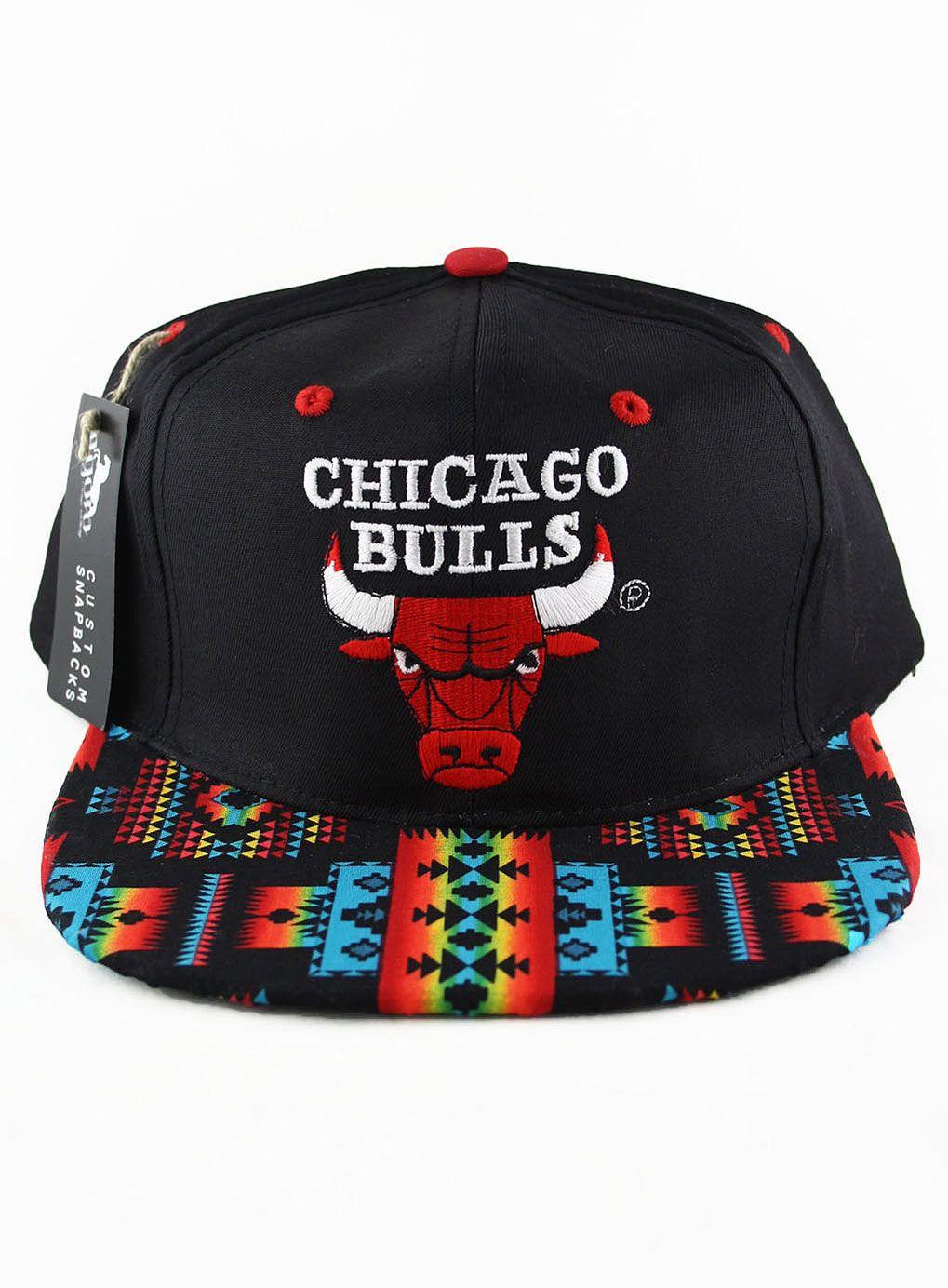 Agora Vintage Chicago Bulls Snapback Hat  6edcc967769