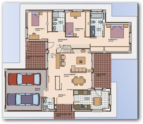planos de casas modernas 1 piso