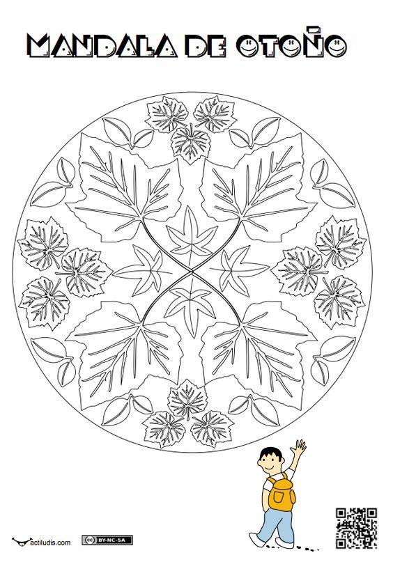 Mandala infantil otoño   Otoño   Otoño, Manualidades otoño y Mandalas