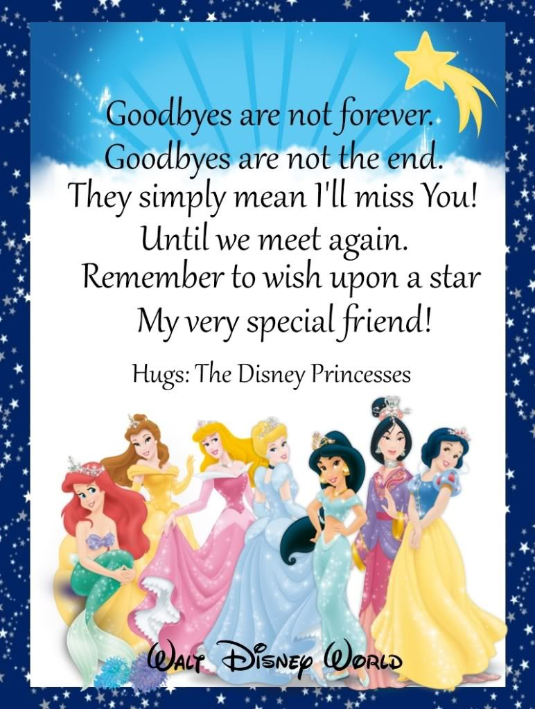 Goodbye Letter Camp Mickey Minnie Letters Activities etc