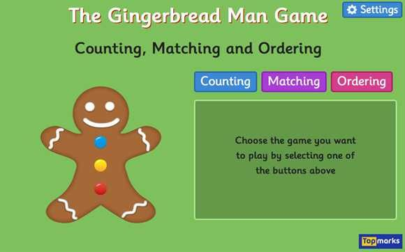 The Gingerbread Man Game - Counting, Matching and Ordering game ...