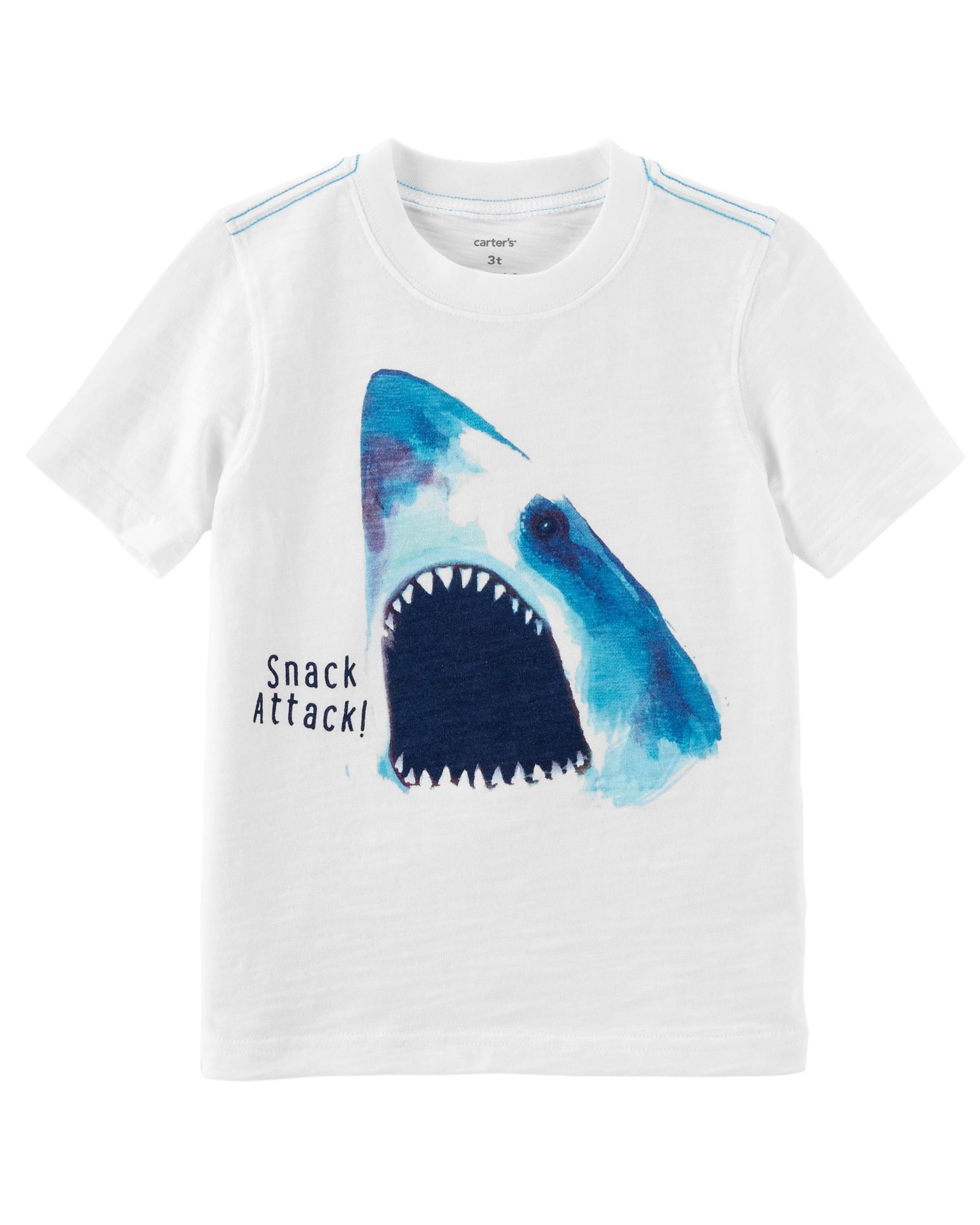 0872b4cfa ... boys' Carter's shark graphic tee. Shark Attack Slub Jersey Tee | Carters.com.  Toddler ...