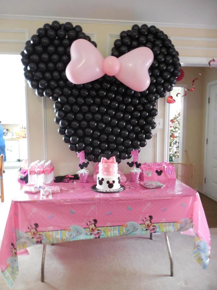 Minnie Mouse Cake Table Decor Minnie Birthday Party Minnie