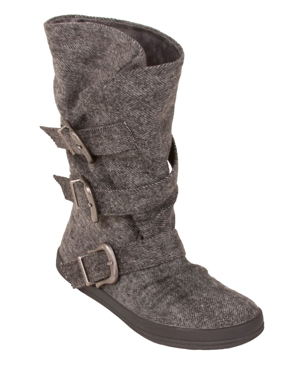 Look at this Gray Soft Herringbone Colin Boot on #zulily today!