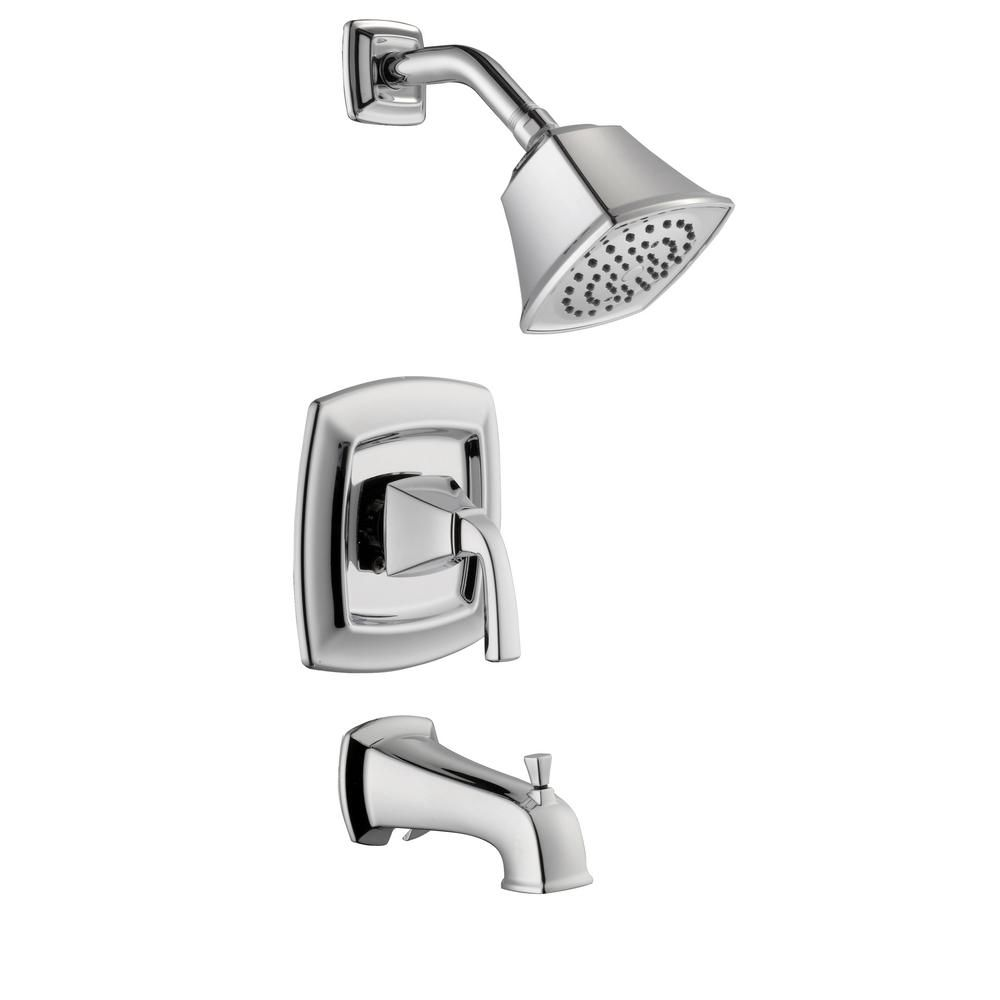Belle Foret Mason 1 Handle 1 Spray Tub And Shower Faucet In Chrome Valve Included 873w 3501 Tub Shower Faucets Shower Faucet Faucet