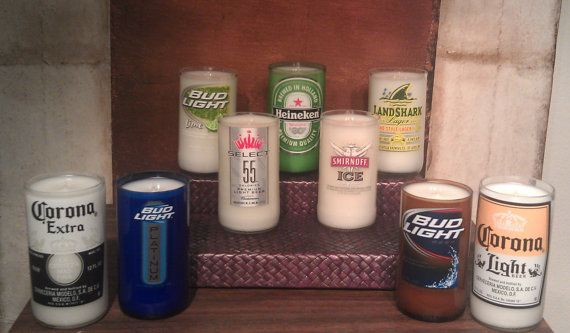 Scented Beer Bottle Candle Customize Your Own by UReflections