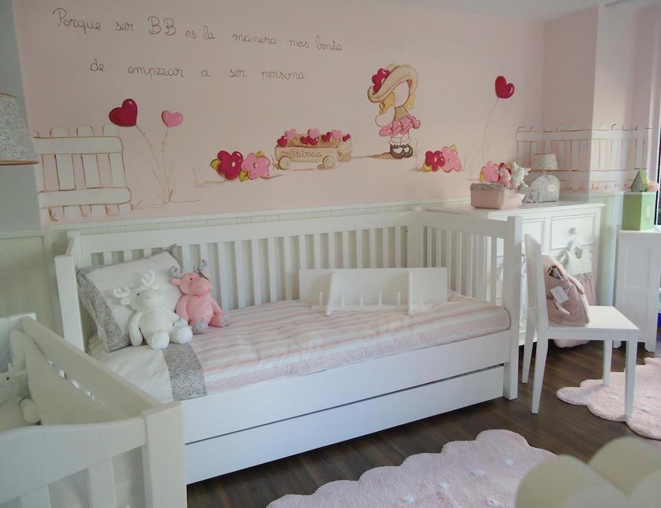 pared pintada a mano u handmade wallpaint camas nidocuarto