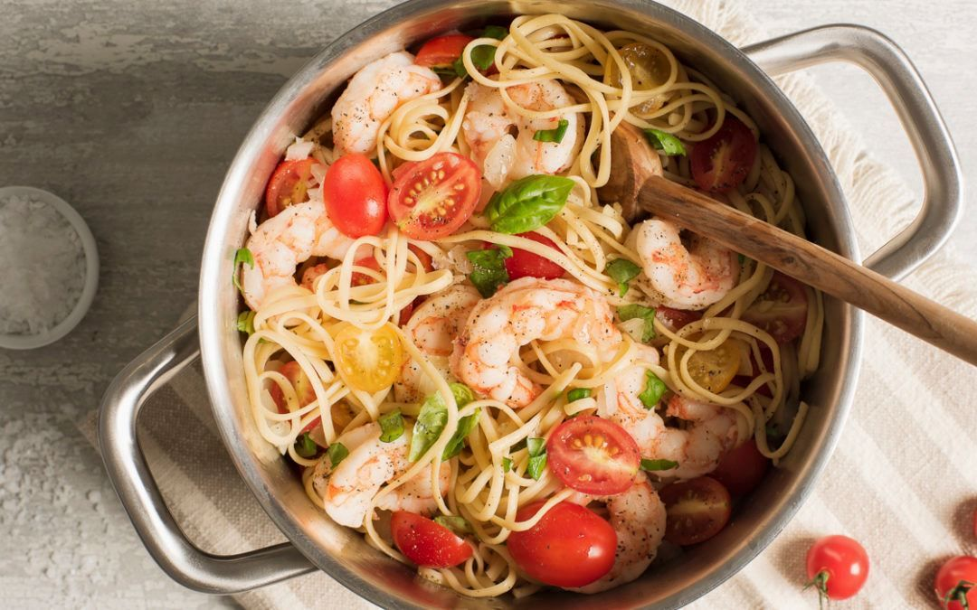 Brushchetta shrimp pasta steak and shrimp pasta omaha