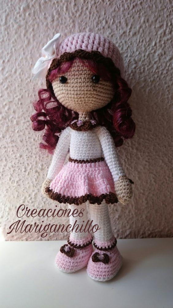 Como hacer una muñeca amigurumi pequeña | Ganchillo y amigurumi ...