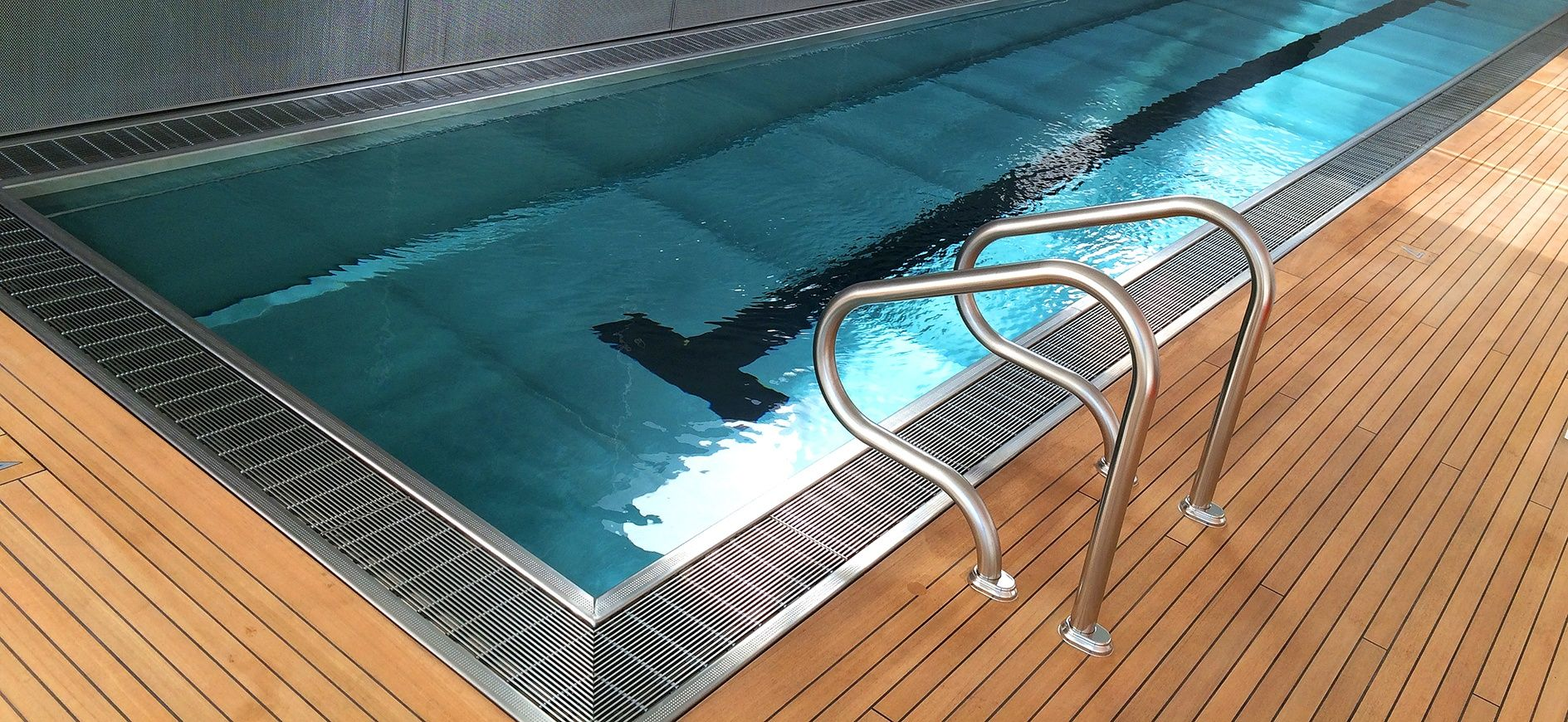 Top 5 Reasons Why A Continuous Perimeter Gutter System Should Be Included In A Competition Pool Or Recreational Pool Luxury Pools Indoor Pool Lap Pool Designs