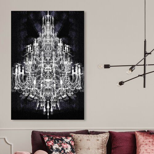East Urban Home Montecarlo Crystal Graphic Art On Wrapped Canvas